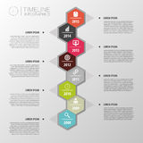 Flat colorful abstract timeline infographics. Vector Royalty Free Stock Photo