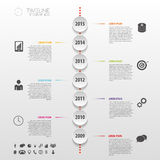 Flat colorful abstract timeline infographics. Vector Stock Images