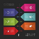 Flat colorful abstract timeline infographics vector. Banner. Illustration Royalty Free Stock Photo