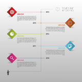 Flat colorful abstract timeline infographics vector illustration Royalty Free Stock Photos