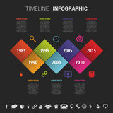 Flat colorful abstract timeline infographics vector illustration.  stock illustration