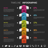 Flat colorful abstract timeline infographics vector illustration Royalty Free Stock Image