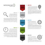Flat colorful abstract timeline infographics vector. Royalty Free Stock Photos
