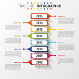 Flat colorful abstract timeline infographics vector. Royalty Free Stock Photo