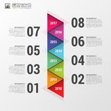 Flat colorful abstract timeline infographics. Vector illustration Stock Images