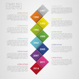Flat colorful abstract timeline infographics vector illustration. With rectangle Stock Image