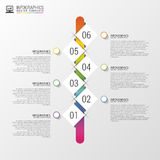 Flat colorful abstract timeline infographics vector illustration with rectangle Stock Image