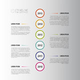 Flat colorful abstract timeline infographics vector. White. Illustration Royalty Free Stock Photos