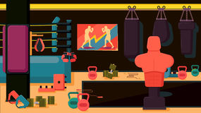 Flat colorful gym. Royalty Free Stock Image