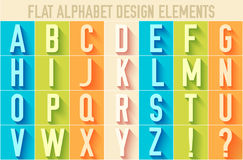 Flat colorful letter of the alphabet vector Royalty Free Stock Photography