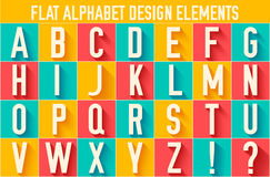 Flat colorful letter of the alphabet vector Stock Photo