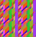 Flat colorful seamless pattern with skewed rectangles Royalty Free Stock Images