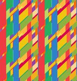 Flat colorful seamless pattern with skewed rectangles Royalty Free Stock Photography