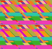 Flat colorful seamless pattern with skewed rectangles Stock Photography