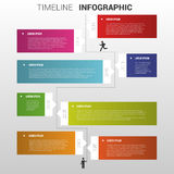 Flat colorful timeline infographics vector illustration Royalty Free Stock Photos