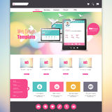Flat Colorful website template with clean modern design. Stock Photography
