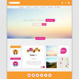 Flat Colorful Website Template Vector Design Royalty Free Stock Image