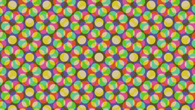 Flat colors background. Flat colors absract background consisting of circles Stock Illustration