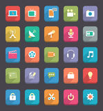 Flat Communcation and Media Icons