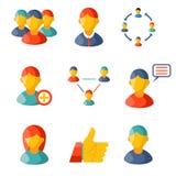 Flat communication business information media web. Icons set vector illustration