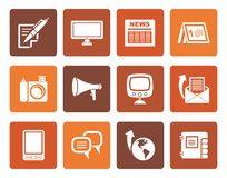 Flat Communication channels and Social Media icons royalty free illustration