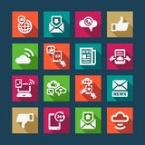 Flat communication  icons set Royalty Free Stock Images