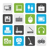 Flat Computer equipment and periphery icons. Vector icon set Royalty Free Stock Photography