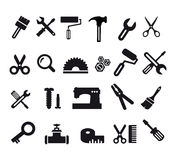 Flat Computer Icons Stock Photography