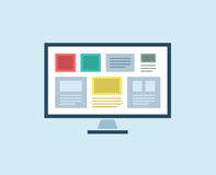 Flat Computer vector icon . PC object, or Royalty Free Stock Photos
