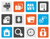 Flat Computer and website icons. Vector icon set Royalty Free Stock Images