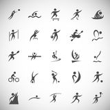 Flat concept design Set stick figure Stock Images
