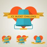 Flat concept illustration for Ice Bucket Challenge Stock Photos
