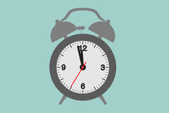 Flat Conceptual Illustration of Vintage Alarm Clock Royalty Free Stock Photo
