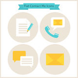 Flat Contact Me Website Icons Set Royalty Free Stock Photography