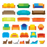 Flat Couche Designs Royalty Free Stock Image