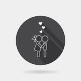 Flat couple icon Stock Image