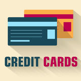 Flat credit cards icon concept. vector. Illustration  template for your template for your design Stock Images