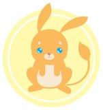 Flat cute jerboa royalty free illustration