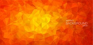 Flat 2D Abstract triangle background Stock Images