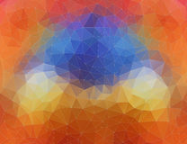 Flat 2D bright orange and blue abstract triangle shape background Stock Photography