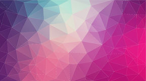 Flat 2D bright violet abstract triangle shape background Stock Images