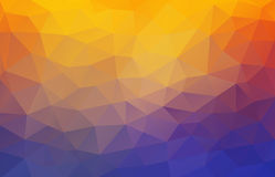 Flat 2D bright yellow and blue abstract triangle shape background Stock Image
