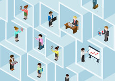 Flat 3d isometric business people professional diversity concept