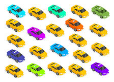 Flat 3d Isometric Car Taxi Royalty Free Stock Photo