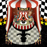 Flat 3d isometric circus performing scenery Stock Image