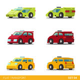 Flat 3d isometric city transport icon set: cars Stock Image