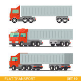 Flat 3d isometric city transport icon set: trucks Stock Photography