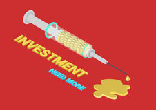 Flat 3d isometric concept business funding addiction syringe Stock Photo