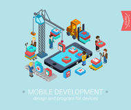 Flat 3d isometric design concept  web infographic Royalty Free Stock Photo