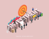 Flat 3d isometric  illustration investment concept design, Abstract urban modern style, high quality business series.  Royalty Free Stock Photography